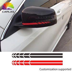 Image 1 - カースタイリング反射防水ステッカーバックミラーサイドミラーデカールストライプ DIY 外装アクセサリー BMW ベンツ