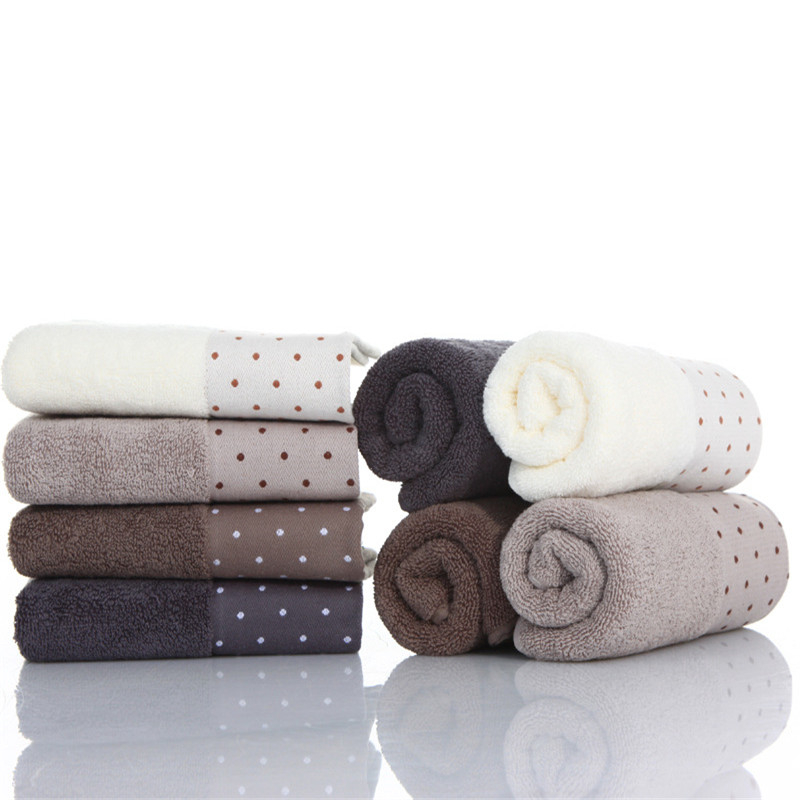 34x72cm Cotton Turban Solid Color Dot Soft Absorbent Home Adult Men Women Bathroom Hotel Travel Face Towel in Hand Towels from Home Garden