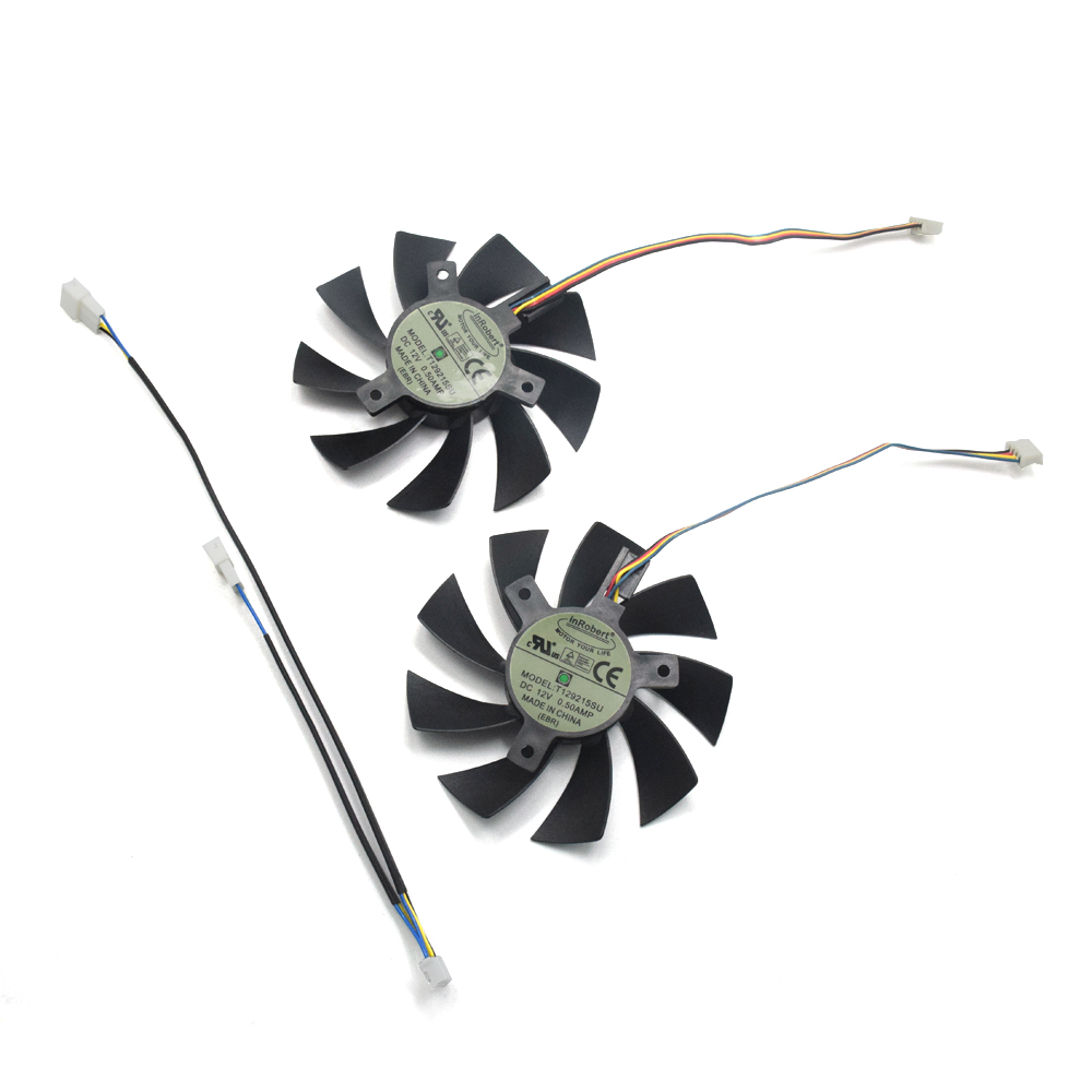 2pcs/lot T129215SU 4pin 85mm Cooler Fan Replace for REDEON RX 570 GIGABYTE RX570 Gaming 4G Video Card Cooling Fan 2pcs lot computer radiator cooler fans rx470 video card cooling fan for msi rx570 rx 470 gaming 8g gpu graphics card cooling