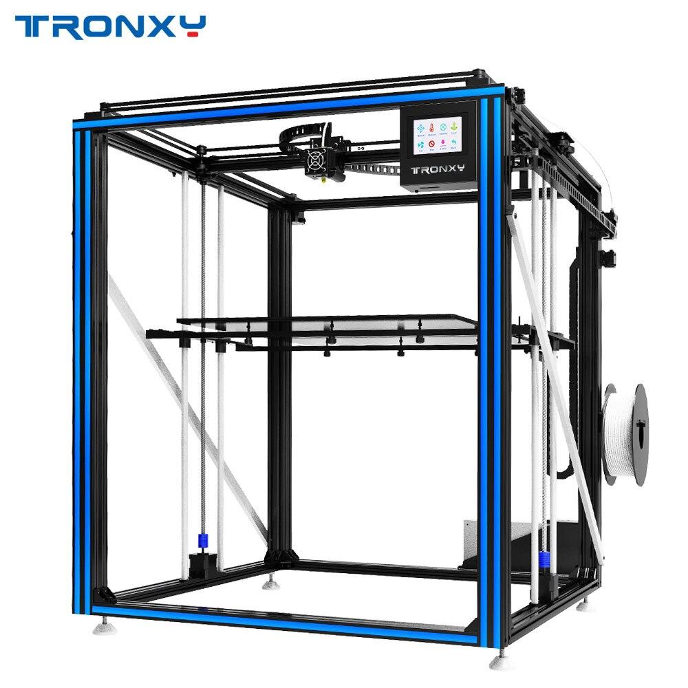 Novedad Más Grande 3D impresora Tronxy X5ST-500 cama de calor gran tamaño de impresión 500*500mm kits de bricolaje con pantalla táctil