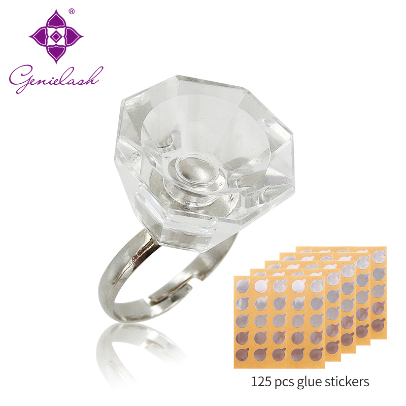 Genie Adjustable Glue Rings For Eyelash Extension Glue Holders Adhesive Stickers For Eyelash Extension Makeup Tools