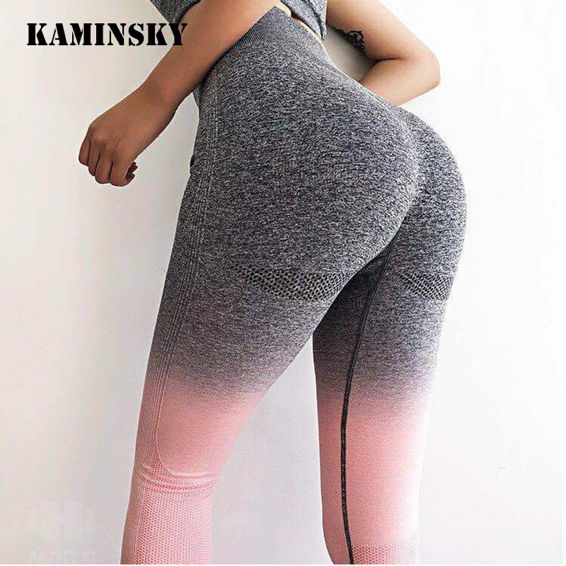 Kaminsky Women Seamless Leggings High Waist Workout Leggings Sporting Activewear Sweat Pants Jegging Ladies Fitness Leggings