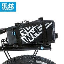 ROSWHEEL 5L Bicycle Carrier Bag Rack Trunk Bike Luggage Back Seat Pannier Outdoor Cycling Storage Handbag Shoulder Strip 141276