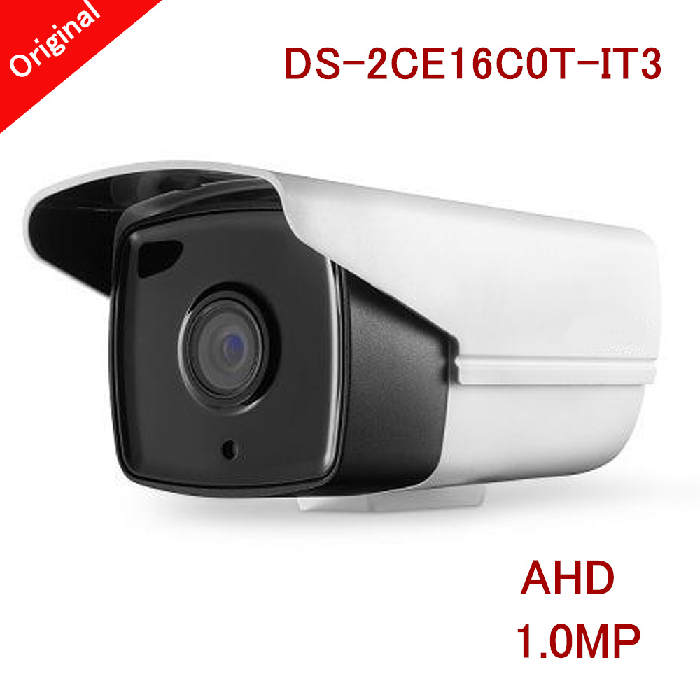ФОТО Newest Bullet AHD Camera 1.0MP 720P Waterproof IP66 Smart IR distance 40m CCTV Camera for Home Survillance DS-2CE16C0T-IT3
