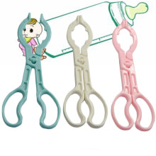 clearance!1pc Random Color Baby Bottle Tong Feeder Feeding Milk Bottle Clamp Skid Bottle Clips Anti-slip Sterilized Forceps 26cm