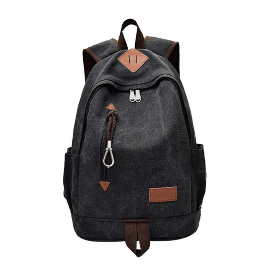 Canvas Backpack Male Casual School Bags Travel Backpack Mens Bag Bagpack Laptop Mochila Escolar #442