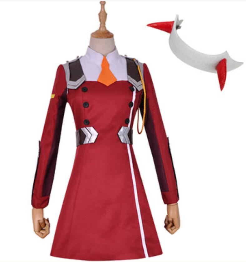 ROLECOS DARLING 02 Zero Two Cosplay Costume DARLING in the FRANXX Cosplay DFXX Women Costume Full