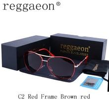 Reggaeon top Quality Brand Design polarizing luxury ladies men aviator sunglasses frame driving Double beam Pilot goggles