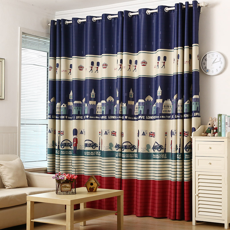 Blackout curtain kids blue uk royal boyguard window - Childrens bedroom blackout curtains ...