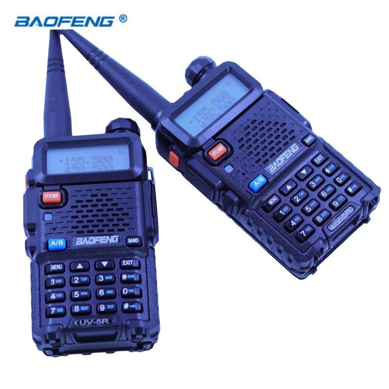 2 pz Baofeng UV5R Walkie Talkie Dual Band HAM Radio CB 2 Way Radio Ricetrasmettitore Portatile VHF UHF UV 5R caccia Stazione Stereo