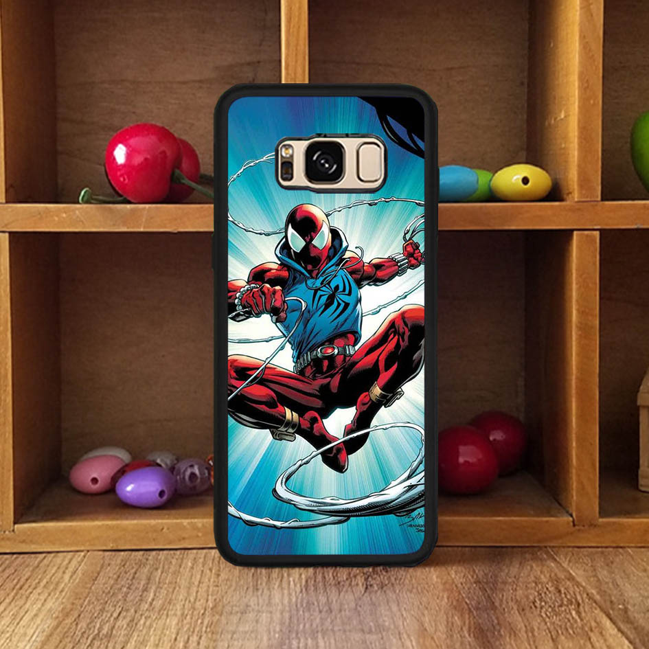 custom character spider man drawing cartoon cellphone cover for