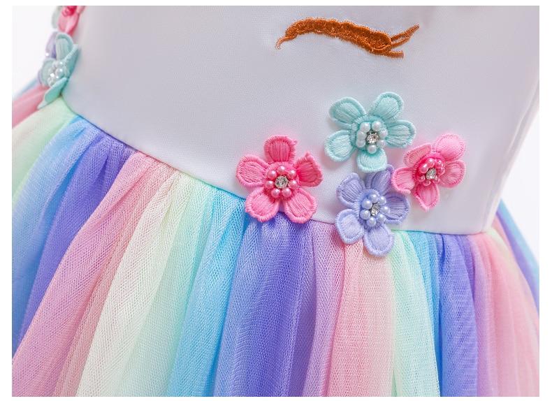 HTB1VXSgQhYaK1RjSZFnq6y80pXa0 Unicorn Dresses For Elsa Costume Carnival Christmas Kids Dresses For Girls Birthday Princess Dress Children Party Dress fantasia
