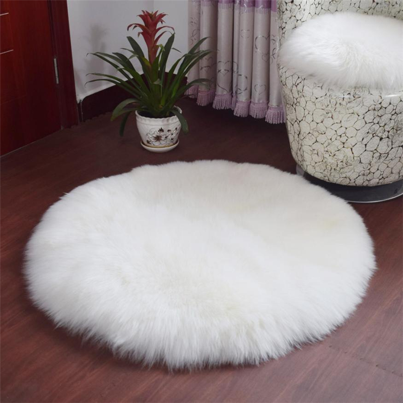 2018 New Soft Artificial Sheepskin Rug Chair Cover Artificial Wool Warm And Cozy Hairy Carpet Seat Pad 16