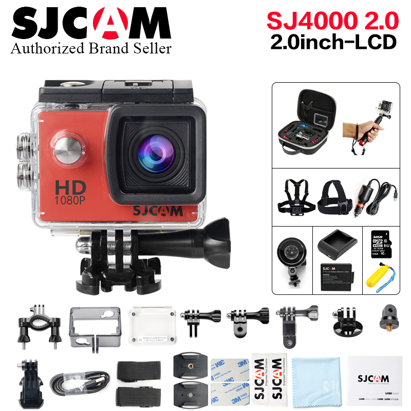 Original SJCAM SJ4000 Action Camera 2.0 inch Sports DV LCD Screen 1080P HD Diving 30M Waterproof mini Camcorder SJ 4000 Cam crystal lux торшер crystal lux jewel pt2 wh