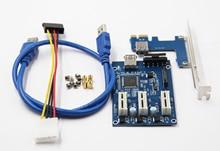 PCIe 1 to 3 PCI Express 1X Slots Riser Card Mini ITX to External 3 PCI-e Slot Adapter PCIe Port Multiplier Card Q21532