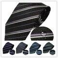 Nova marca de 100% Gravatas de Seda Para Homens Clássicos Misturar 12 cores TECIDO JACQUARD Roxo Prata Preto Vermelho Listrado De Seda dos homens empate