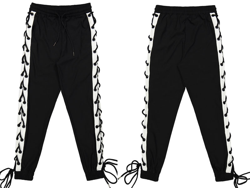Side Cross Lace Up Joggers Pants 4