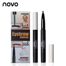 Novo Professionele Peel Off Wenkbrauw Gel + Potlood + Card Make Liquid Eye Brow 3D Wenkbrauw Tint Crème Tattoo Brow pen Cosmetische Set(China)