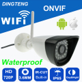 wifi 720p camera mini Bullet Waterproof Night Vision Outdoor Security Camera ONVIF P2P CCTV Cam with IR-Cut 64G TF card slot