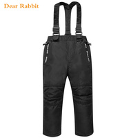 Winter pants 2018 New Polyester Solid Boys trousers Straight Fly Woven pants waterproof overalls for kids girls leggings autumn