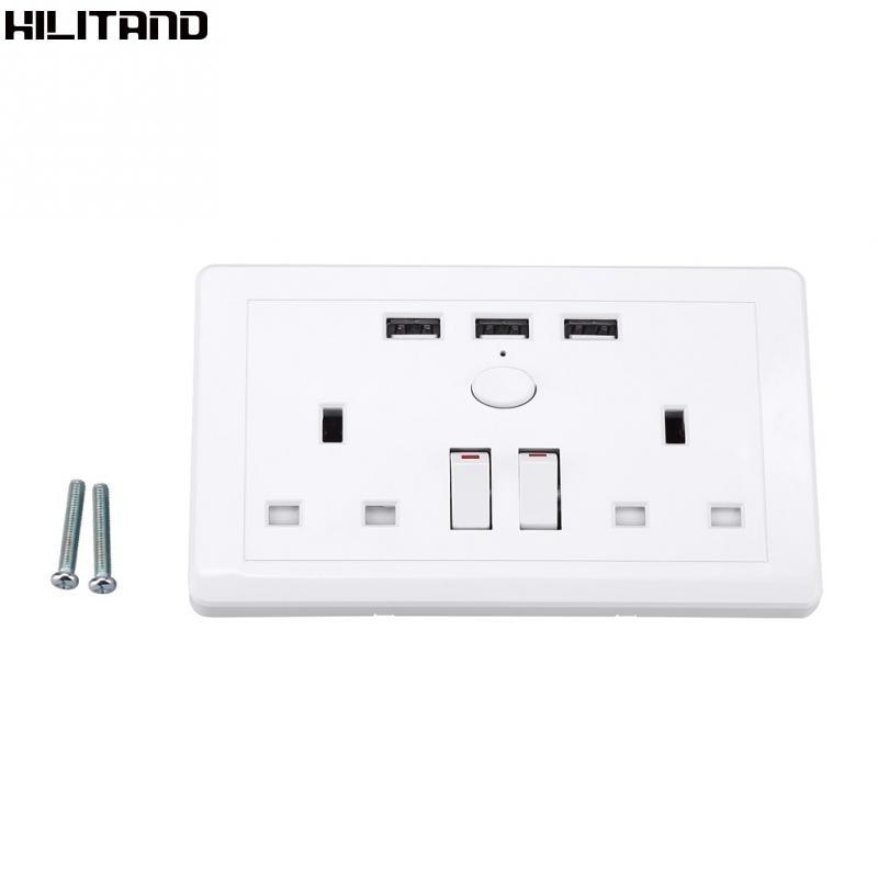 2 Gang 2100mA Wall Socket Dual B Port Outlet Plate Panel Universal BIN