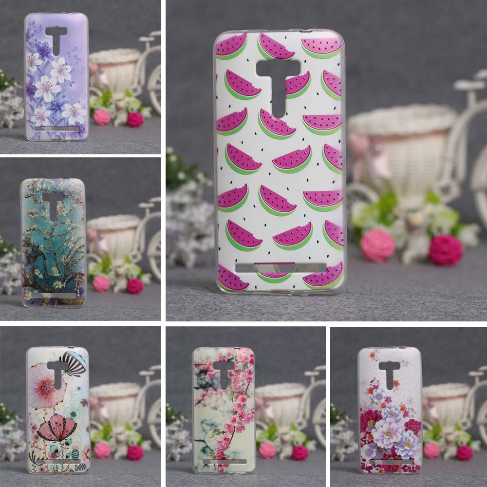 Luxury 3D Painted Reliefs Silicon Back Cover Case for Asus Zenfone Selfie ZD551KL Phone Cases Soft TPU Cover for Asus ZD551KL