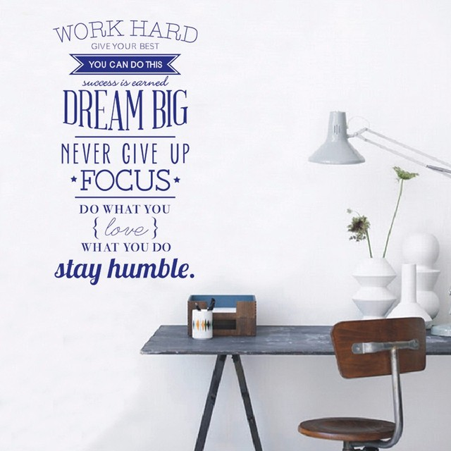 wall decals quotes work hard vinyl wall sticker office decoratave