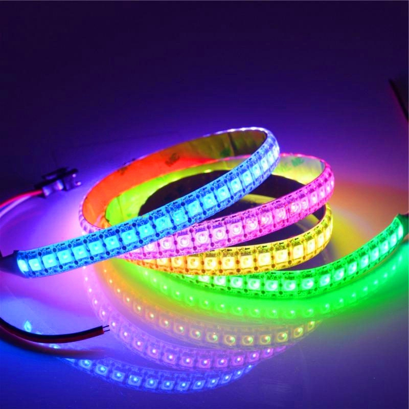 144 Pixels Dutiful Kzkrsr Dc5v Waterproof Ws2812 Led Strip 30 60 Leds/m Individually Addressable Smart Ws2812 Ic Rgb Led Strip High Standard In Quality And Hygiene