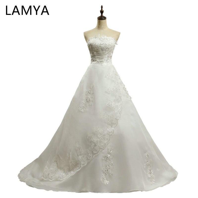 Embroidery Court Train Wedding Dress Laciness Vestidos De Novia Sweetheart Sweep Lace Applique Bride Dress Gowns Robe De Mariage