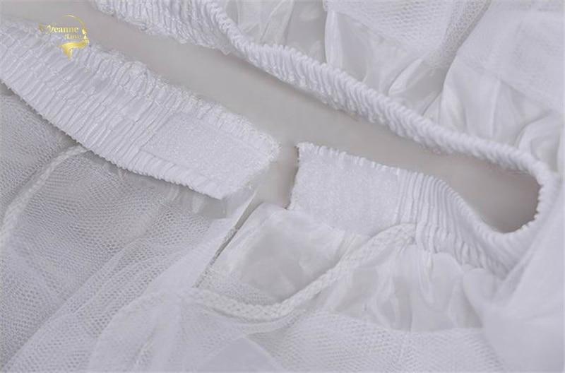 Top Quality Stock White Black Ballet Petticoat Tulle Ruffle Short Crinoline Bridal Petticoats Lady Girls Child Underskirt jupon 6