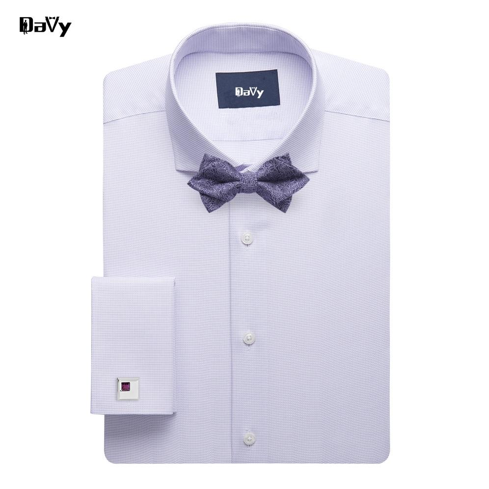 Plaid Maß Hochzeit Bräutigam Smoking Männer Nach Striped Stil Solide Manschettenknöpfe Frech Größe Kleid Plus Hemd Zw1xqOaa