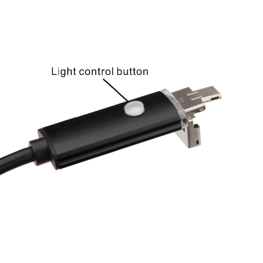 Endoskop USB Kamera Android 1M Kabel 5,5 mm 6 diod IP67 Wodoodporna - Bezpieczeństwo i ochrona - Zdjęcie 4