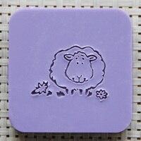 2016 Free Shipping Natural Handmade Acrylic Soap Seal Stamp Mold Chapter Mini Diy Sheep Patterns Organic