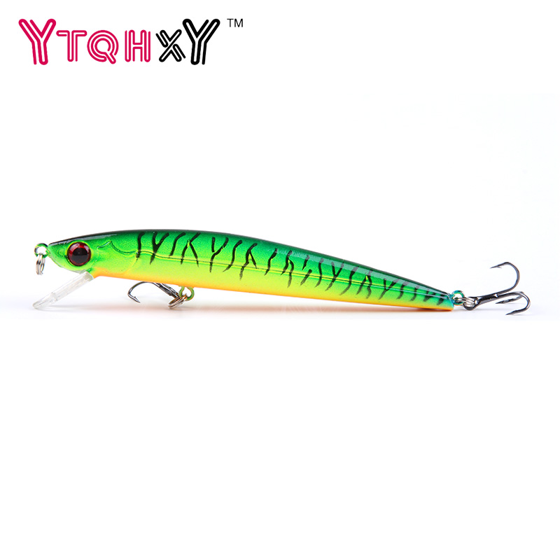 1PCS 11cm 8.8g Floating Minnow Fishing Lure 6# Fish Wobbler Tackle Crankbait Artificial Japan Hard Bait Swimbait YE-235 tsurinoya fishing lure minnow hard bait swimbait mini fish lures crankbait fishing tackle with 2 hook 42mm 3d eyes 10 colors set