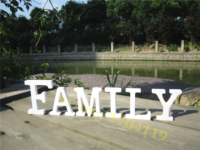 Beautiful Wooden Wood Letter Family Free Standing Wedding Party Brithday Home Decor Decoration Letters