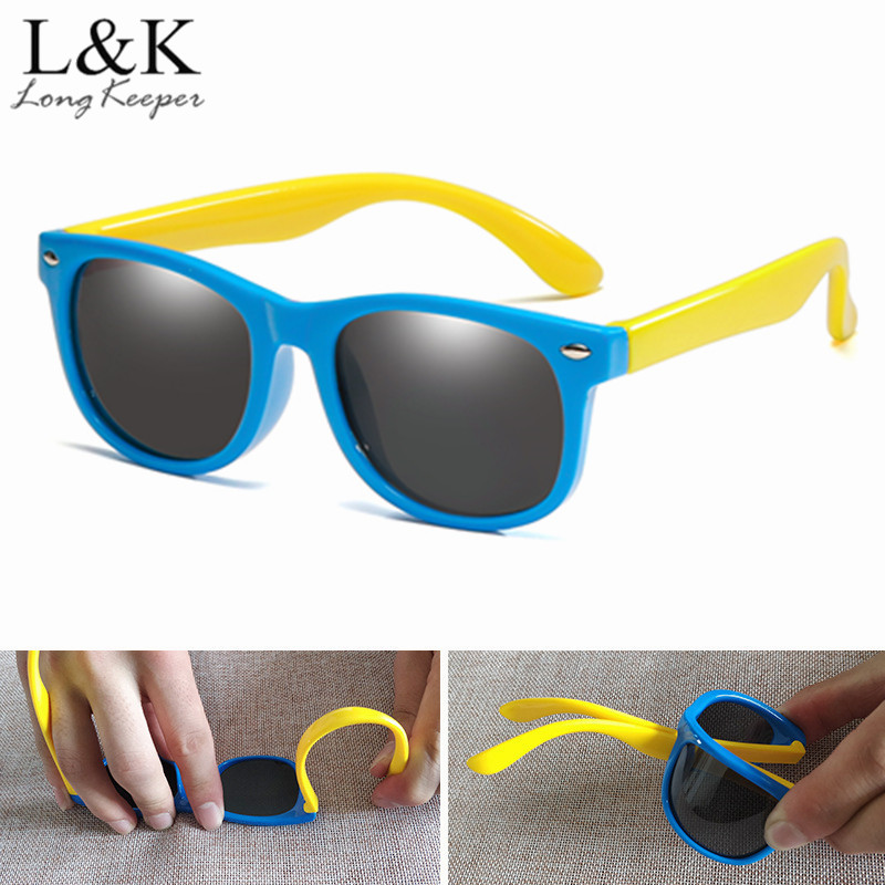 LongKeeper Children Polarized Sunglasses TR90 Baby Classic Fashion Eyewear Kids Sun glasses boys girls sunglasses UV400 Oculos