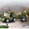 93 Canhão pçs/set DIY Brinquedo de Montar Blocos de Construção Caminhão Carro Quebra-Cabeça do Iluminismo Brinquedos Crianças Presentes do Brinquedo