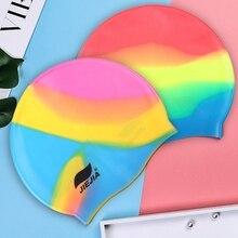 Водонепроницаемая шапка для плавания силиконовая шапочка для бассейна для взрослых мужчин женщин детей