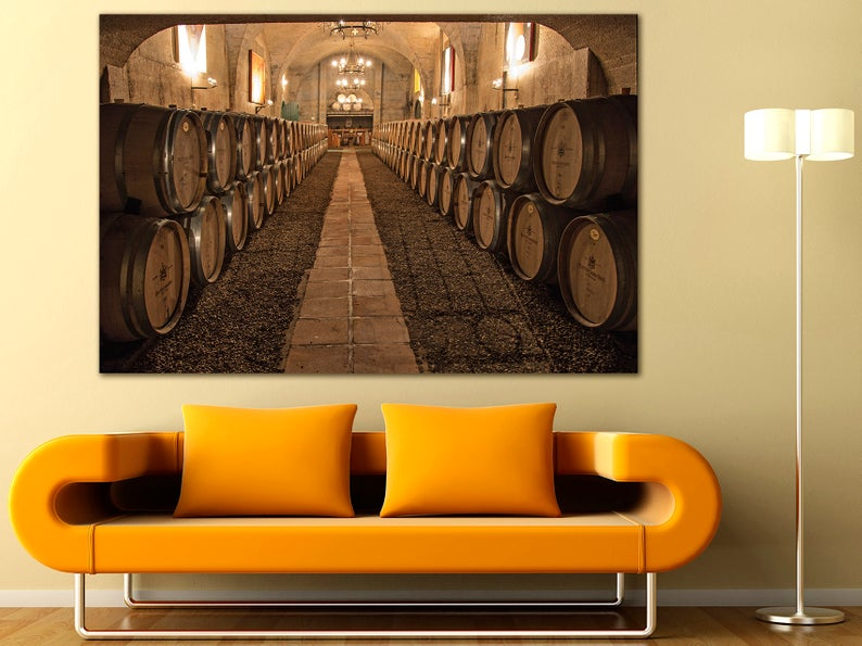 Cognac Barrels Wall Art Room Decor