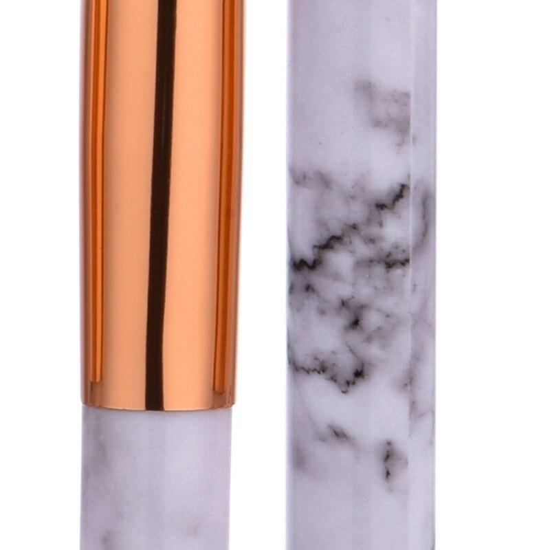 10Pcs Set Professional Makeup Brushes Comestic Tools Marbling Handle Eye Shadow Eyebrow Lip Eye Make Up Brush in Eye Shadow Applicator from Beauty Health