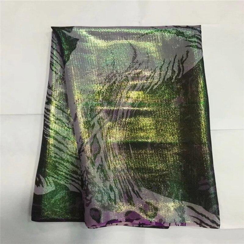 의류에 대 한 아프리카 부드러운 실크 직물 스위스 voile 레이스 tissu lxe120206 골드 & 퍼플 새틴 소재에 깔끔한 자 수-에서직물부터 홈 & 가든 의  그룹 1
