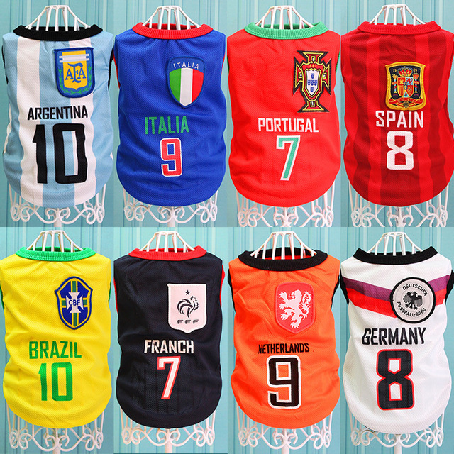 Football National Team Clothes for Cats T-shirt for Dogs NBA Basketball  Uniforms Dogs Jersey Soccer World Cup Dog Vest Clothing dc2514afa