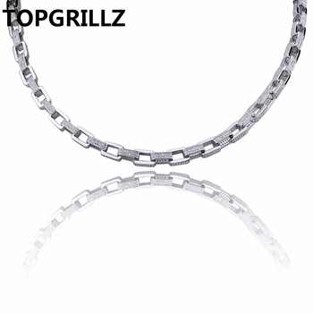 TOPGRILLZ Hip Hop Men's Jewelry Necklace Copper Gold/Silver Color Plated Micro Pave CZ Stone 7mm Chain Necklace 18 inch 22 inch - DISCOUNT ITEM  25% OFF All Category