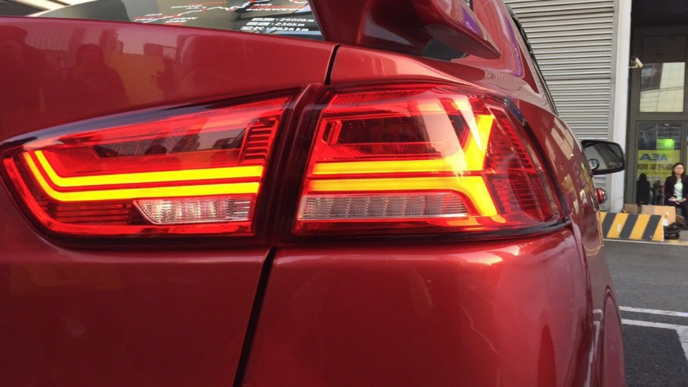 Free shipping China VLAND Car led taillight For 2008 2012 2015 Mitsubishi Lancer ex Tail lamp With led Moving Signal light