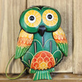 Genuine leather coin purse female cartoon animal owl coin case small cowhide handmade bag
