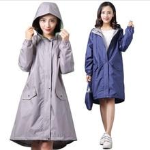 Newest long thin breathable raincoat women/female ponchos suit waterproof pullover womens rain coat chubasquero mujer