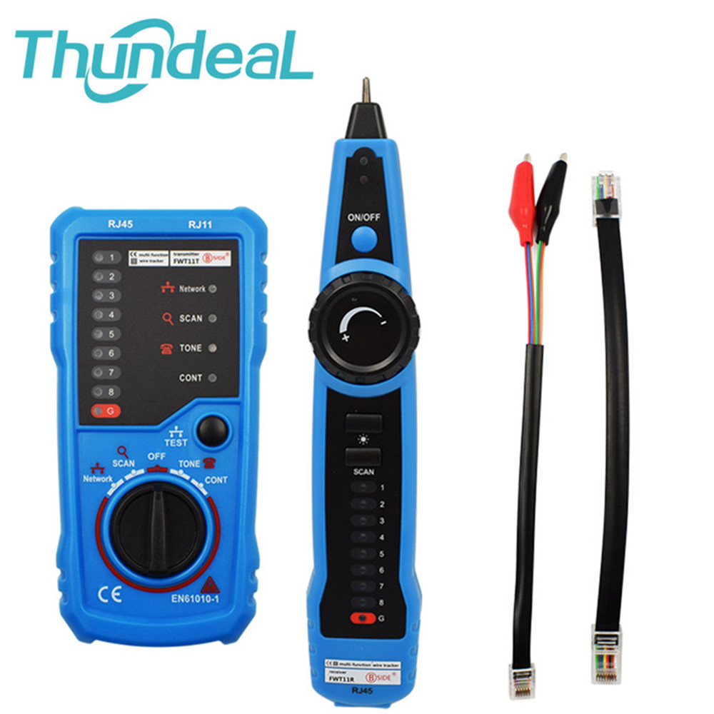 LAN Tester LAN Network Cable Cat5 Cat6 RJ11 RJ45 Detector Telephone Wire Tracer Cable Tracker Toner Ethernet Line Finder(China)