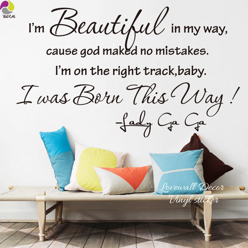 Beautiful Madam In Beautiful Garden Quotes: Lady Gaga Sony Lyric Quote Beautiful In My Way Baby Wall