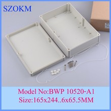 10 pcs/lot plastic enclosures for electronics plastic enclosure for electronic plastic case electrical enclosure165x244.5×65.5mm