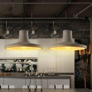 Image 3 - Luzes pingente de cimento criativo do vintage lâmpadas pingente de concreto industrial cinza pendurado luzes edison lâmpadas